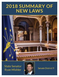 2018 Summary of New Laws - Sen. Mishler