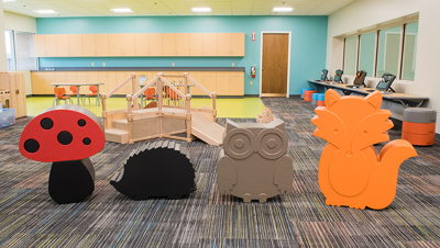 Animal seating in the children's department