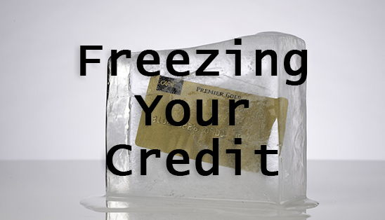 Image for Freezing Your Credit