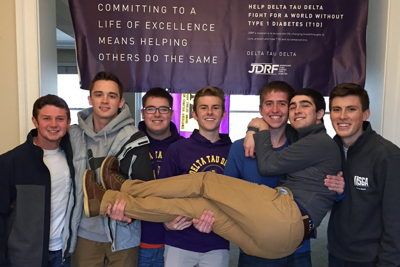 "Delt ""Taucos"" Takes Off as Chapter Fundraiser for JDRF"