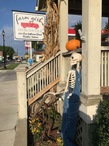 Skeletons in downtown Franklin