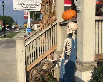 Skeletons in downtown Franklin