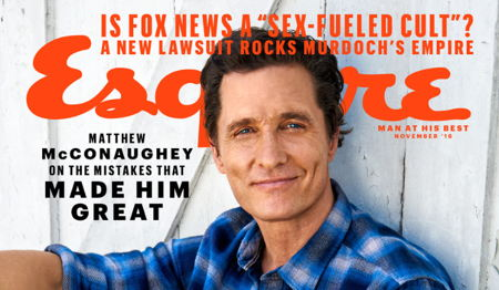 Another Magazine Cover for Matthew McConaughey