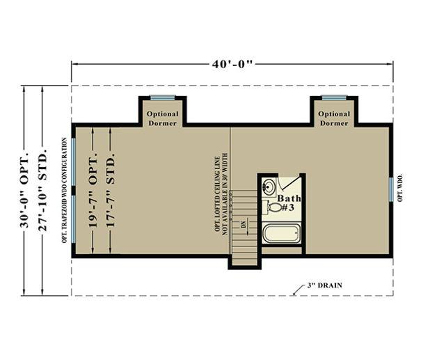 Second Floor Blueprint for Alaskan
