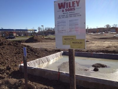 Image of Wiley & Sons sign at job site