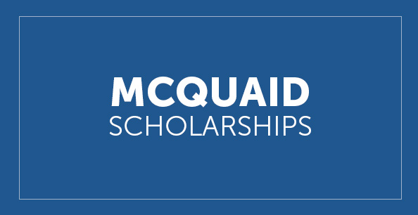 McQuaid Scholarship Button