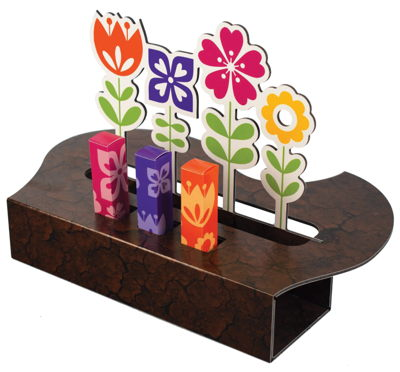 Self-Standing Display Pop Up Flowers