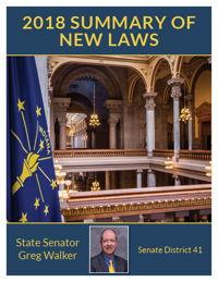 2018 Summary of New Laws - Sen. Walker
