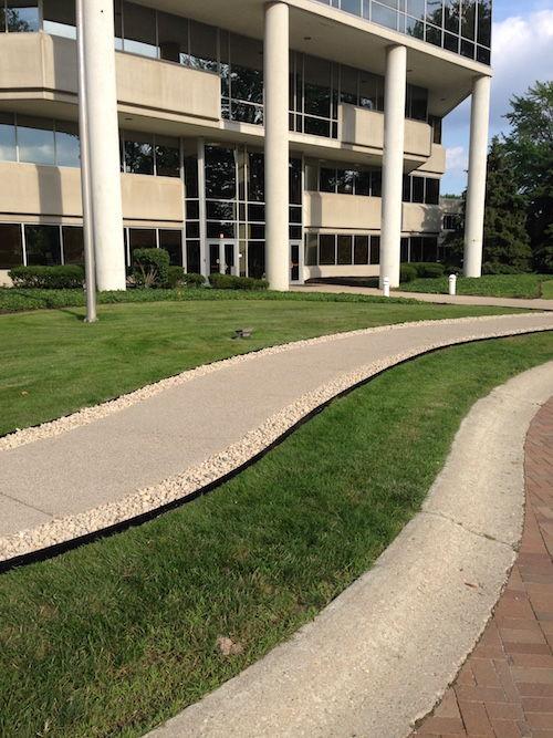 Sidewalk border enhancement