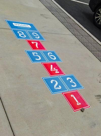 Outdoor Sidewalk Graphic