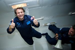 Peter-in-Zero G giving a thumbs up