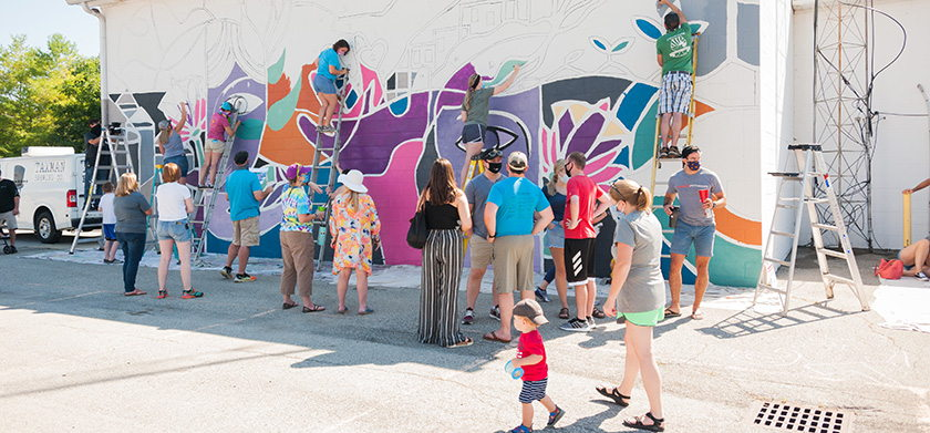 Color the County Mural Program Bargersville 2020
