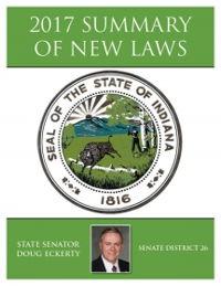2017 Summary of New Laws - Sen. Eckerty