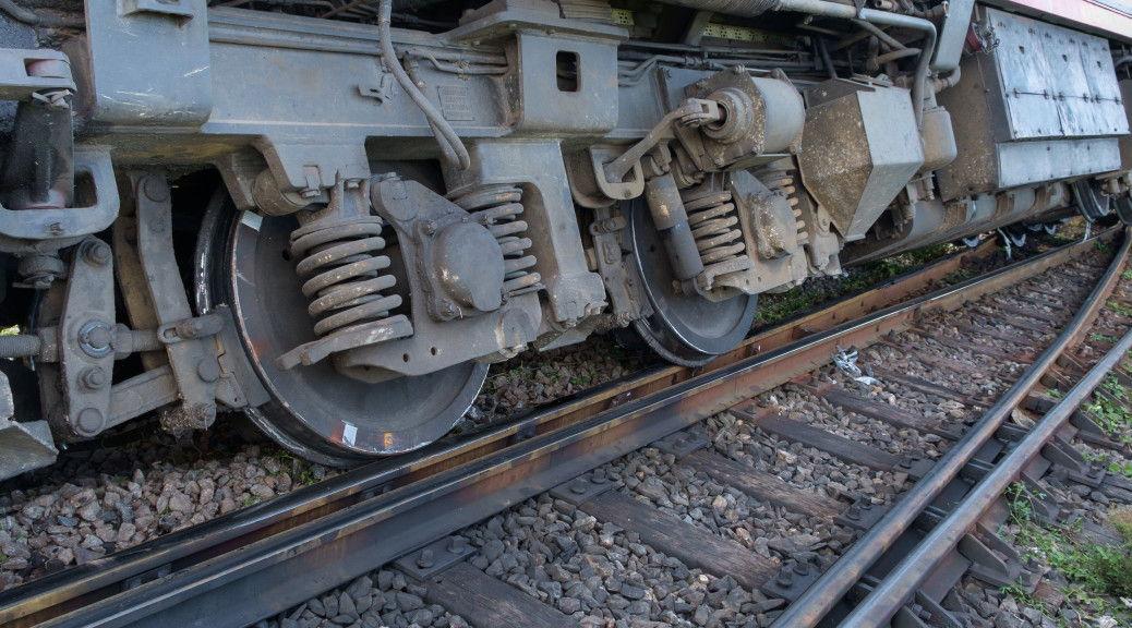 train being derailed