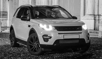 Land Rover monochrome
