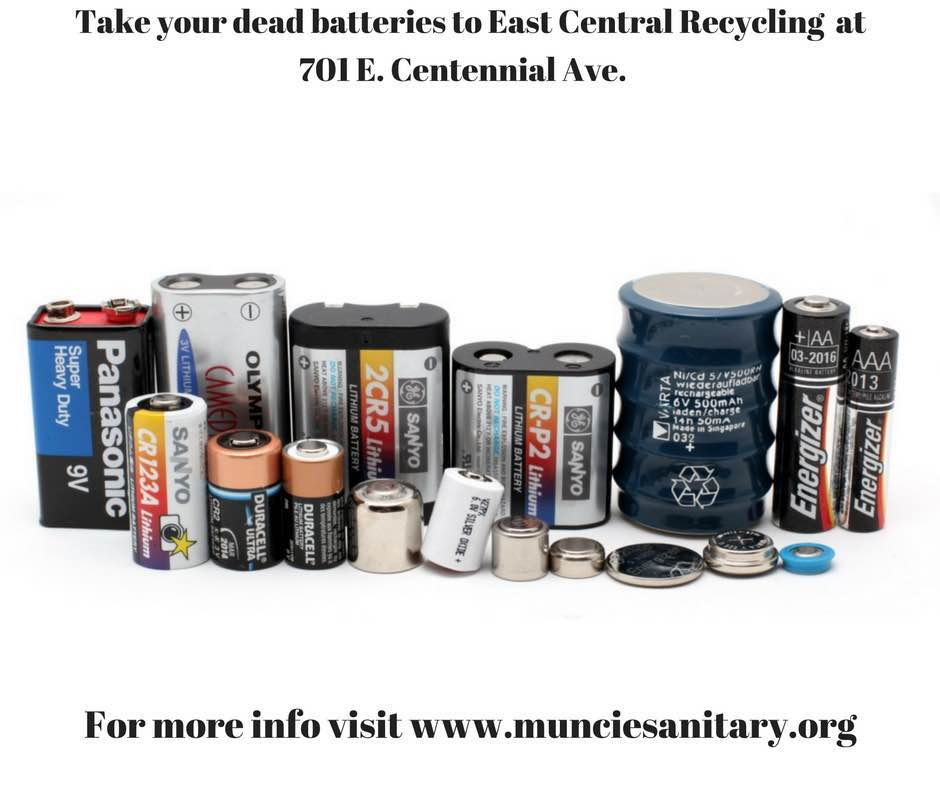 Image of types of batteries to take to ECR