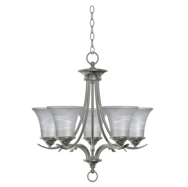 STANDARD DINING ROOM LIGHT-NICKEL