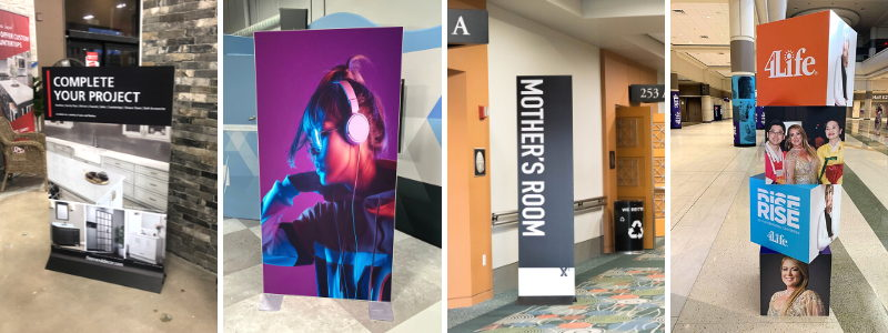 Self-Standing Standee Signs