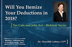 Tax Cuts and Jobs Act Series - #3: Itemized Deductions