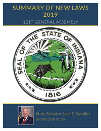 2019 Summary of New Laws - Sen. Sandlin
