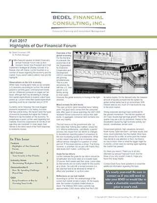 Image for 2017 Fall Newsletter