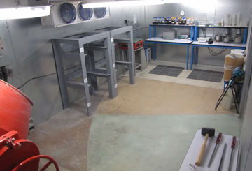 Batch Room Testing Concrete