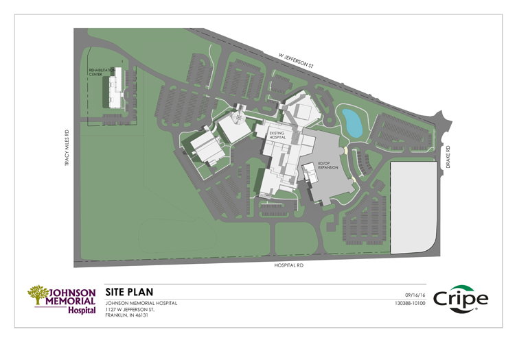 Site plan for future JMH facilities