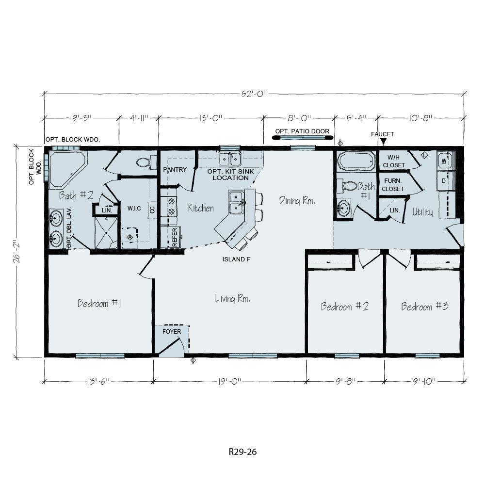 Heritage | Ranch Floor Plan