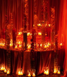Candles on a table