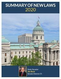 2020 Summary of New Laws - Sen. Buck