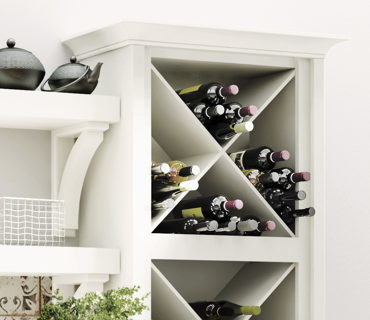 WALL WINE STORAGE CABINET