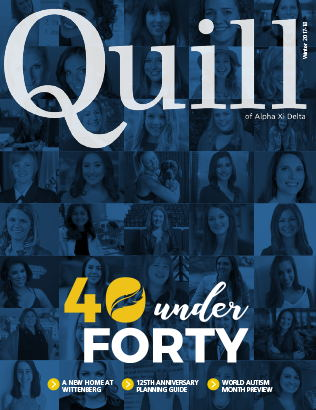 Cover of The Quill of Alpha Xi Delta Winter 2018