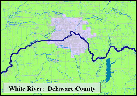 White River Headwaters map image