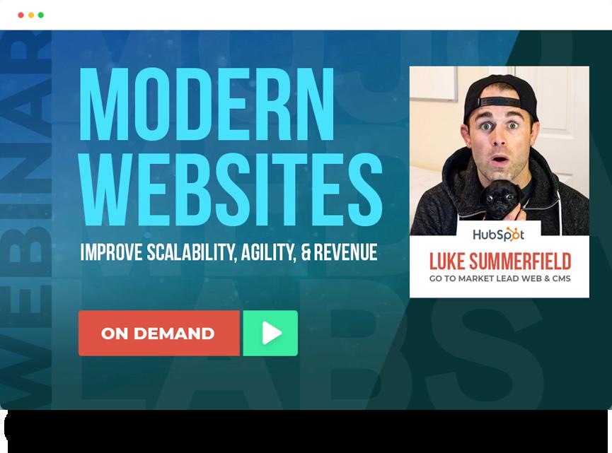 Modern Website Webinar