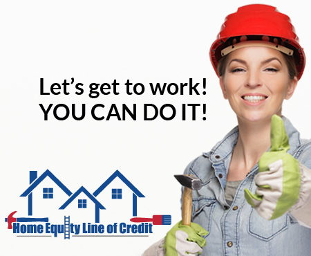 Image for Let's Get to Work with a HELOC Loan