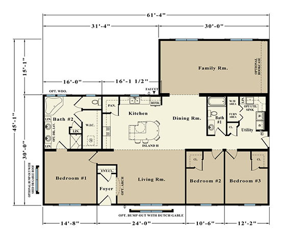 Melbourne ER-30B Floor Plan