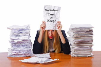 Image for Paper Piled Up:  Toss or Keep?