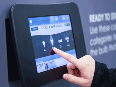 Interactive Display Lowe's Light Bulb Aisle