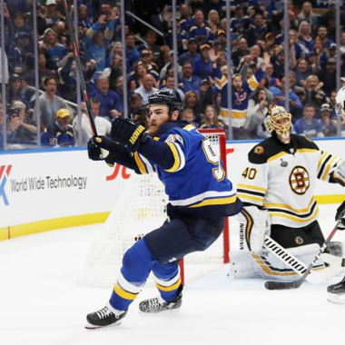 Image for Ryan O'Reilly Scores Twice as Blues Beat Bruins; Even Up Stanley Cup Final at 2