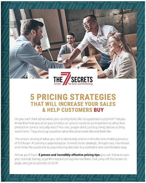 5 pricing strategies downloadable