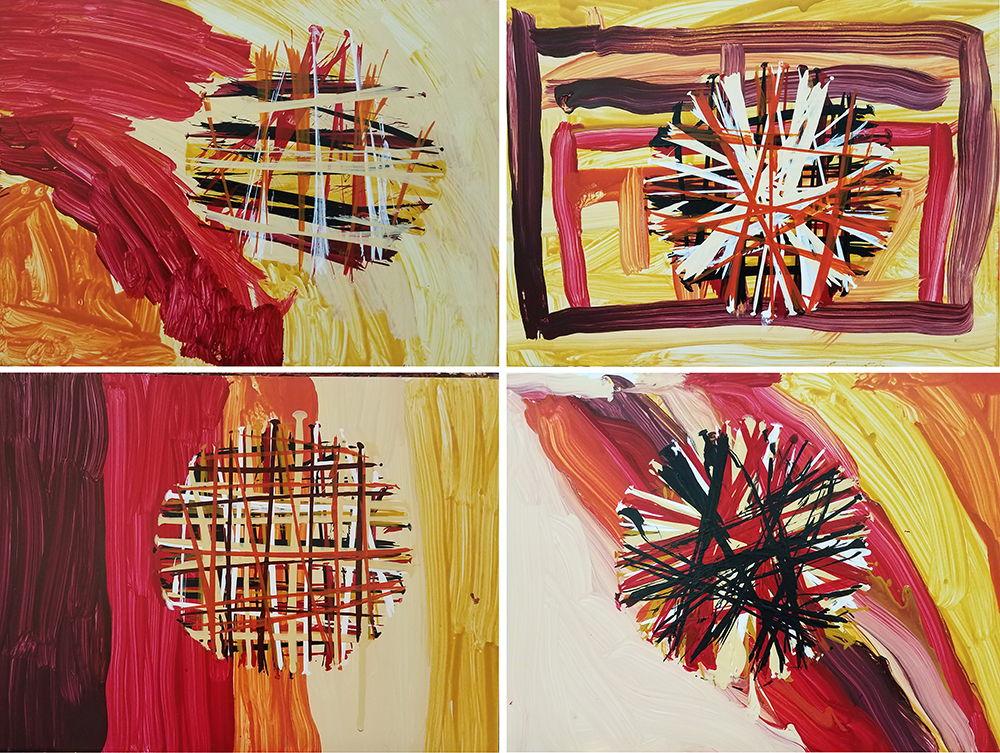 Artists create warm color studies