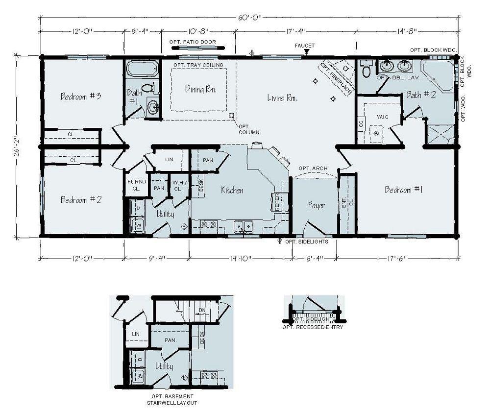 Carrington | Ranch Floor Plan on