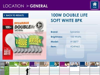Light Bulb Interactive Display Screen