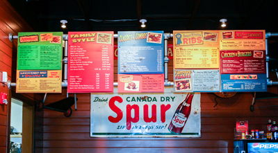 Famous Dave's Menu Boards