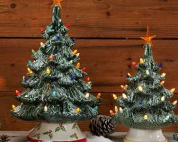 U-paint Ceramic Christmas Tree or Vintage Truck with Tree