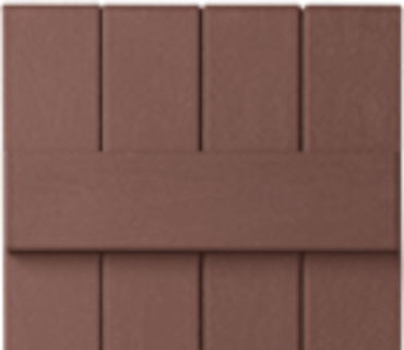 OPTIONAL BOARD & BATTEN SHUTTER - RED