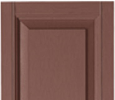 STANDARD RAISED PANEL SHUTTER - RED