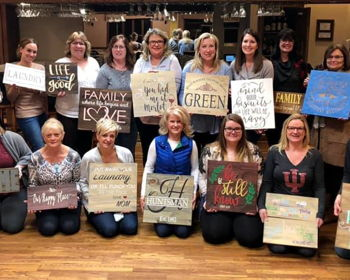 Mother's Day Wood Painting Party at Vino Villa