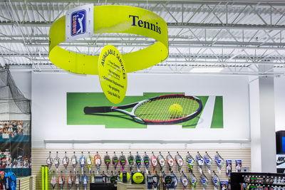 Ceiling Hanging Tennis Department