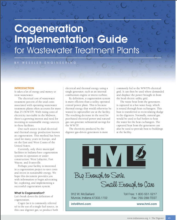 Cogeneration Implementation Guide for Wastewater Treatment Plants